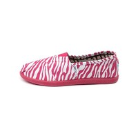 Tween TOMS Classic Zebra Slip-On Casual Shoe, Fuchsia, at Journeys Shoes
