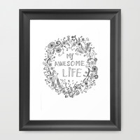 Awesome life Framed Art Print by IoanaStefPhotography