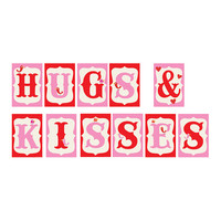 'Hugs & Kisses' Banner Mini Print Set