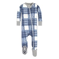 Wide Buffalo Check Organic Baby Sleeper