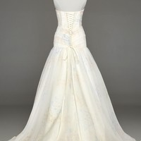 Strapless Organza Print Ball Gown - David's Bridal - mobile