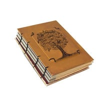 Oak Tree Original Pen and Ink Coptic Journal - Rustic Guest Book - Wedding- Gift