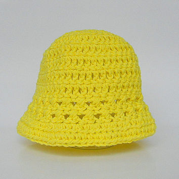 Infant Yellow Hat  Girl  Spring Cotton  Cap 6 To 12 Months Baby Boy Summer  Beanie