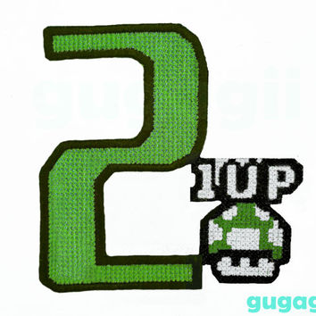Birthday Number,Birthday Iron on, Birthday Sew on, Embroidered Patch, Name Patch, iron on monogram, Birthday Sew on,Video Game Patch