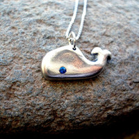 Whale necklace in PMC solid fine silver