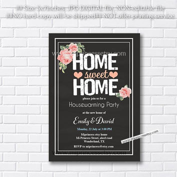 housewarming invitation,  New house home sweet home Invitation Card | We have moved Invitation Card Design - card 175