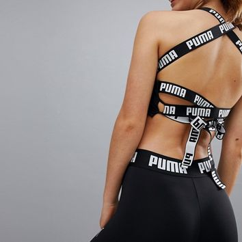 Puma Exclusive To ASOS Tie Back Crop Top at asos.com