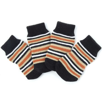 Warm Indoor Dog / Pet Non- Skid Socks ( Grey, Black, Red)  (S, M, L)