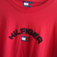 VINTAGE Tommy Hilfiger Hilfiger Beaded Long Sleeve Shirt