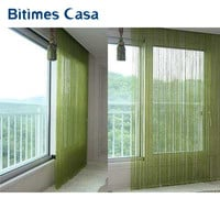 solid color decorative string curtain 300cm*300cm black white beige  classic line curtain  window blind vanlance room divider