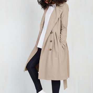 Jack by BB Dakota Sleuth be Told Trench | Mod Retro Vintage Coats | ModCloth.com