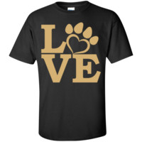 Love Paw Gold Unisex T-Shirt
