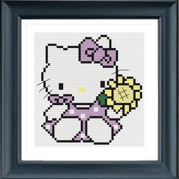 Buy 2 Get 1 Free, Hello Kitty KT2265, Cross Stitch Pattern, PDF Digital Format