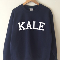KALE Sweatshirt High Quality SCREEN PRINT for Retail Quality Print Super Soft fleece lined unisex Ladies Sizes. Worldwide Shipping S-2xl