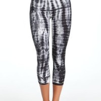 bebe Tie Dye Leggings Tubular Black/white-p/s