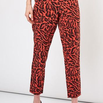 Red Leopard Trousers