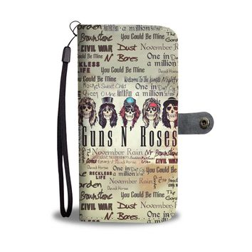 KUYOU Guns N Roses Use Your Illusion Wallet Phone Case