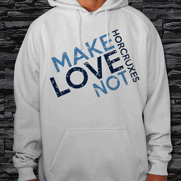 "Make Love Not Horcruxe Unisex Hoodie {Size Print 12""x12""}"