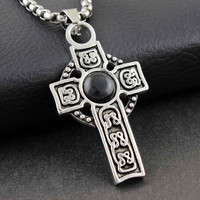 Stainless Steel Celtic Cross Necklace