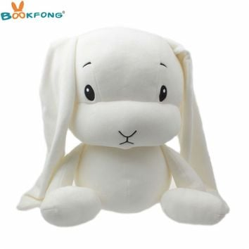 Cute Lucky Rabbit Plush Toy Soft Stuffed Rabbit Doll Baby Cuddle Sleeping Animal Toy Kids Toys Birthday Christmas Gift