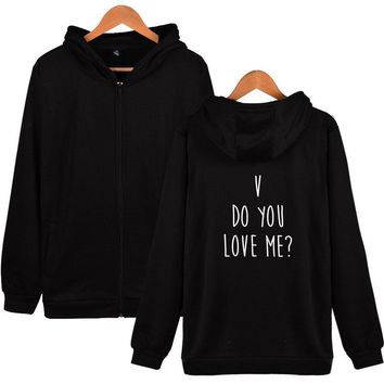 KPOP BTS Bangtan Boys Army LUCKYFRIDAYF Hot  Do You Love Me Women Autumn Harry Styles Zipper Hoodies Sweatshirts Fashion  Soft Fashion Clothes AT_89_10
