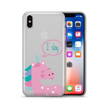 I Slay - Clear Case Cover Phone Case