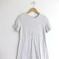 vintage 90s light gray tshirt dress / layering dress. size medium