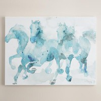 """Watercolor Horses"" by Paul Valencay"
