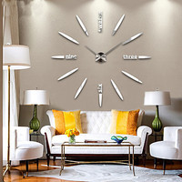 [$26.99] New Modern Design High Quality Silent 3D DIY Wall Clock 12S012