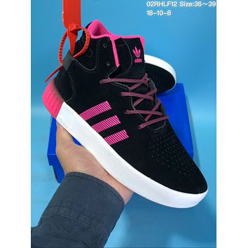 HCXX A422 Adidas Tubular Invade Yeezy 750 Hight Suede Skate Shoes Black Pink