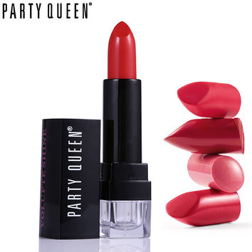 Party Queen 12 Colors Hydrating Waterproof Matte Lipstick Moisturizing Lip Balm Makeup Long Lasting Silky Smooth Chic Lips Color