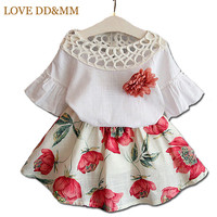 Girls Clothing Sets New 2017 Summer Girls Clothes Kids Tops + Fashion Casual Flower Skirts Suits Kids Clothes-in Clothing Sets from Mother & Kids on Aliexpress.com | Alibaba Group