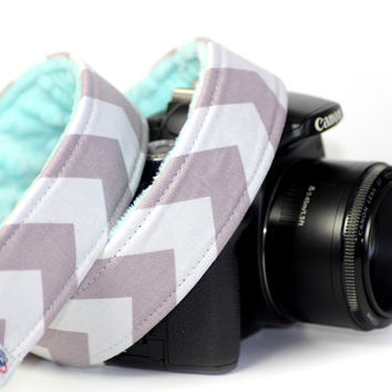 Chevron Camera Strap for DSLR / SLR with Minky Lining
