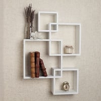 DanyaB Intersecting Cube Shelves - White