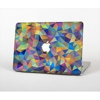 The Colorful Vibrant Triangle Connect Pattern Skin Set for the Apple MacBook Pro 15""