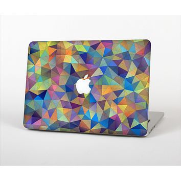 The Colorful Vibrant Triangle Connect Pattern Skin Set for the Apple MacBook Air 11""