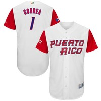 Men's Puerto Rico Baseball Carlos Correa Majestic White 2017 World Baseball Classic Authentic Jersey