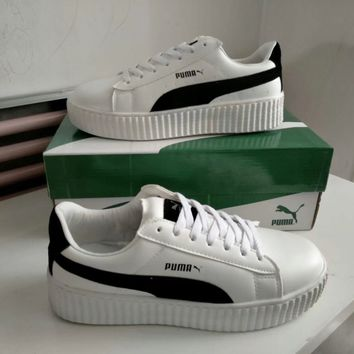 """Puma"" Unisex Sport Casual Fashion Multicolor Low Help Plate Shoes Couple Thick Bottom Platform Sneakers"