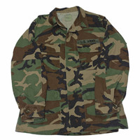 Vintage US Army Woodland Camouflage Combat Coat Mens Size Large