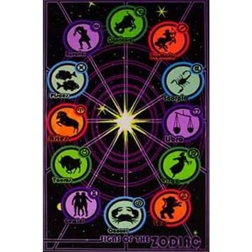 Zodiac Signs Blacklight Poster Cool Dorm Supplies Best Items For Dorms