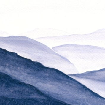 Original Mountain Landscape Original Watercolor by ABFoleyArtworks
