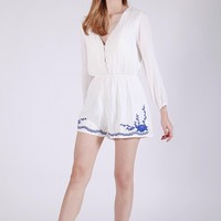 BOSTON BUTTON FRONT PLAYSUIT (WHITE)