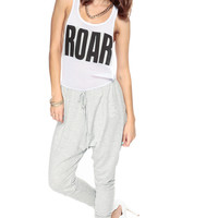 Hear Me Roar Grey Harem Jumpsuit