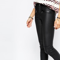 Only Coated Biker Jeans