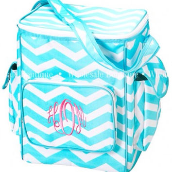 Personalized monogram cooler tote bag  by AfterNineDesigns on Etsy