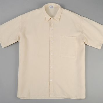 Square Tail Short Sleeve Shirt, Beekeeper's Cloth, White