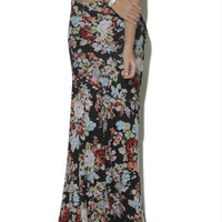 Hacci Floral Pieced Maxi Skirt - WetSeal