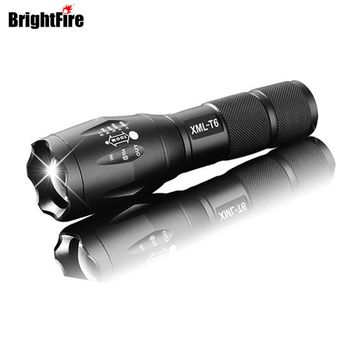 High Quality Professional 5 modes Zoomable XML-T6 LED Flashlight 3800LM Lumens lanterna Torch light