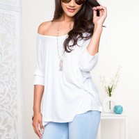 Lianna Oversized Top - White