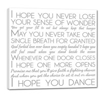 Personalized Holiday Gift Custom art lyrics vows favorite song Personalized Artwork 24X24 canvas